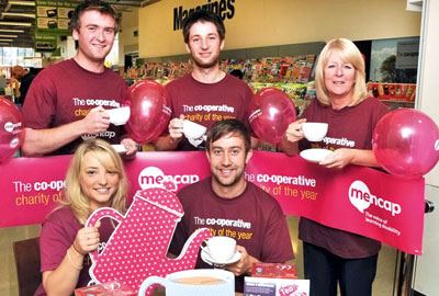 Co-operative staff raised money for Mencap and Enable Scotland