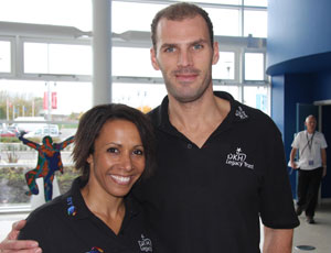 Toby Garbett with Dame Kelly Holmes