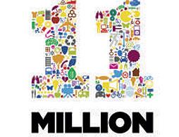 The 11 million logo