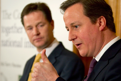 Nick Clegg [left] and David Cameron