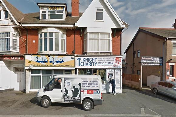 The charity's shop in Blackpool