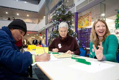 Volunteers at Crisis at Christmas event