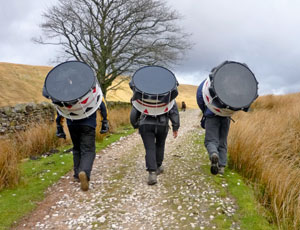 The fundraising drummers