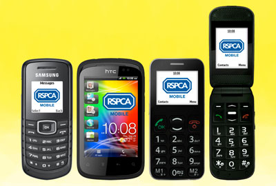 New mobile phone service will allow RSPCA to benefit from a percentage of users' top-up costs