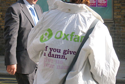 Oxfam fundraising