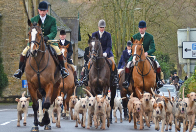 Heythrop Hunt on Boxing Day last year
