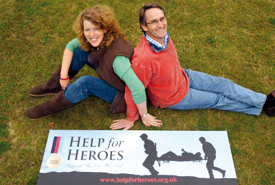 Help for Heroes founders Emma and Bryn Parry