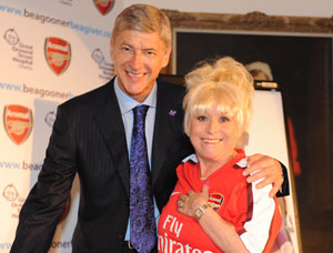 Arsene Wenger and Barbara Windsor support the Great Ormond Street Hospital Children's Charity