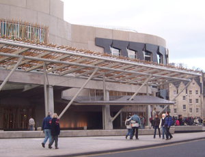 Holyrood: the home of Scottish Parliament