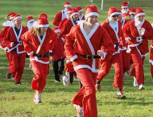 Santa dashes