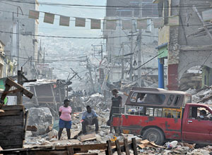 Haiti earthquake. Photo by Mark Pearson, ShelterBox