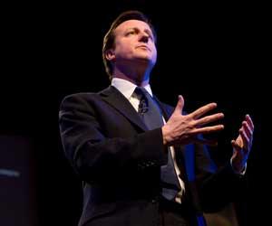 David Cameron addressing the Social Enterprise Conference (picture courtesy of Charlie Pinder)