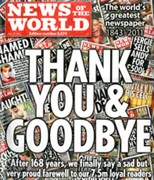 News of the World's final edition