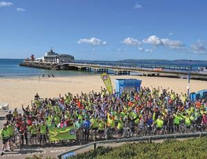 200 cyclists began their ride at Bournemouth pier