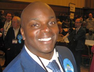 Shaun Bailey at the count