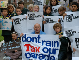 Rain tax lobby: Brian Moore and cub scouts