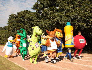 Mascots in training for Royal Parks Half Marathon