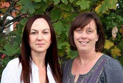 Catherine Farrell and Liz Bayram