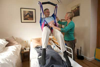 Carer supported by disablity charity the Papworth Trust