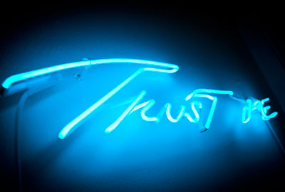 Tracy Emin's artwork for the exhibition, Trust Me