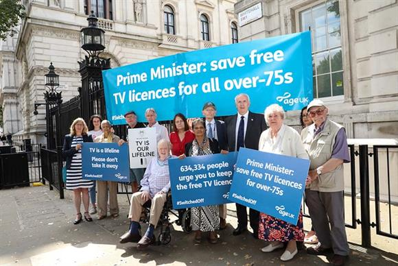 Age UK campaigning to save free TV licences for over-75s