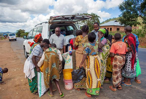 Aid being provided in Tanzania