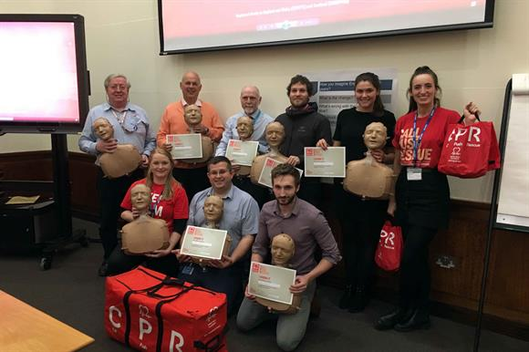 Airbus staff attended CPR training courses