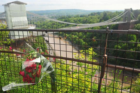 Avon Gorge in Bristol, where Olive Cooke was found dead