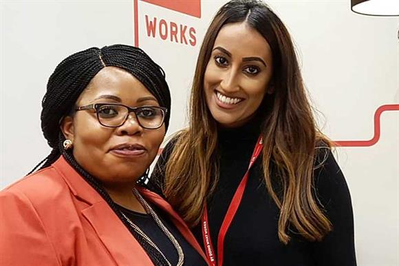Jaipreet Kaur (right) of Action for Children, with her mentor, Justina Omotayo