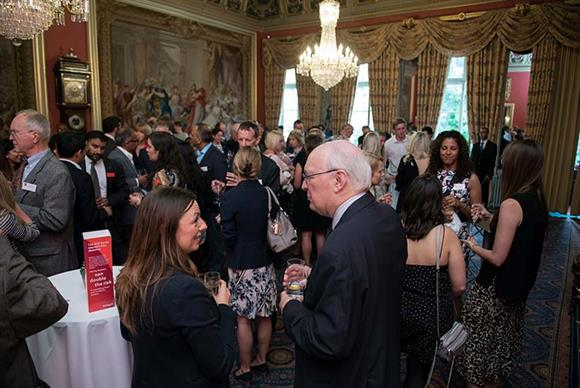 Guests enjoy the BHF's annual summer drinks reception at Drapers Hall