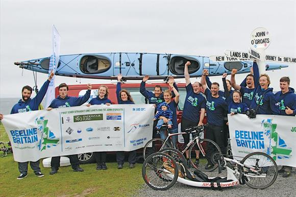 The Beeline Britain team made its way across the UK from Land's End to John O'Groats