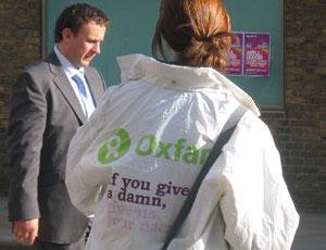 Oxfam street campaign