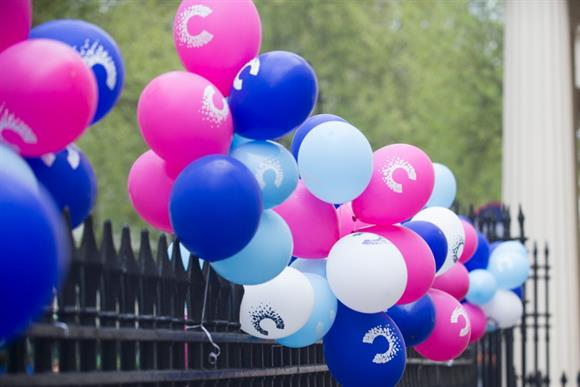 Cancer Research UK balloons