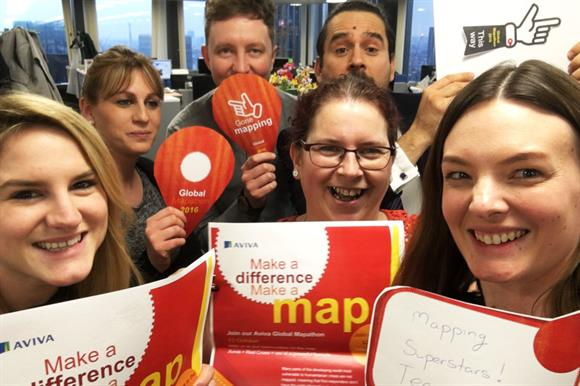 Staff helped to map disaster-stricken areas