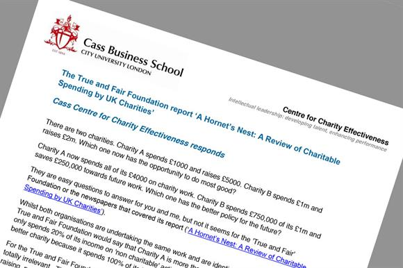 cass business school modified response to true and fair foundation