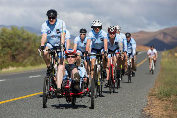 Staff and veterans cycled 320 miles in South Africa
