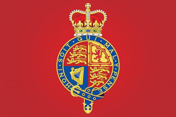 The royal arms, as used by the Privy Council, which awards chartered status