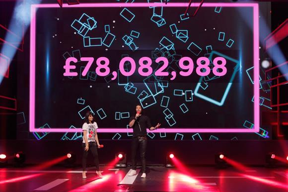 Claudia Winkleman and Russell Brand reveal this year's Red Nose Day total
