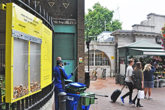 London's most littered street got cleaner
