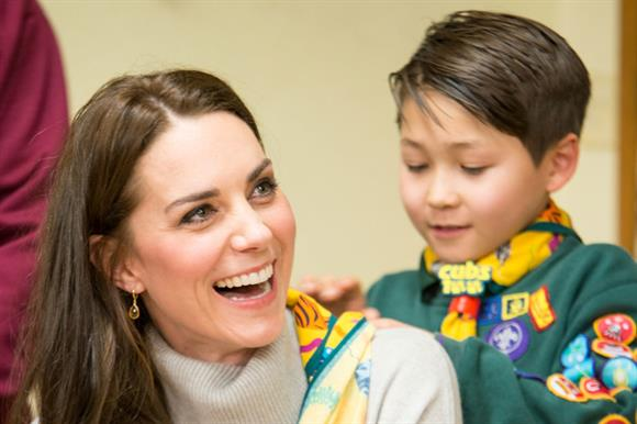 The Duchess of Cambridge visited a cub pack
