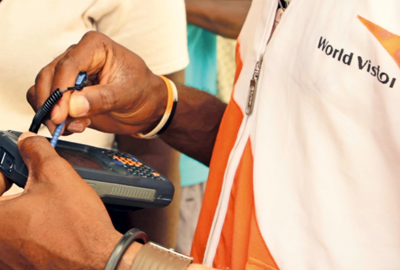 Digital: ID scan for beneficiaries