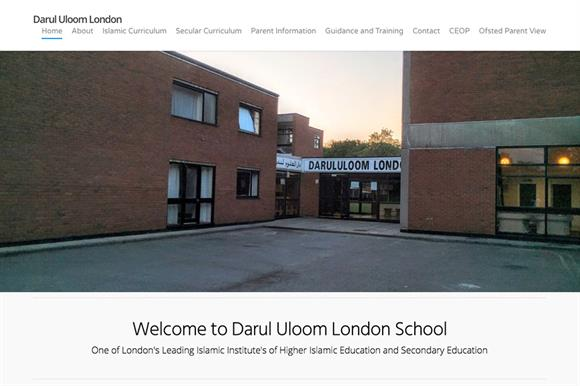 The school's website