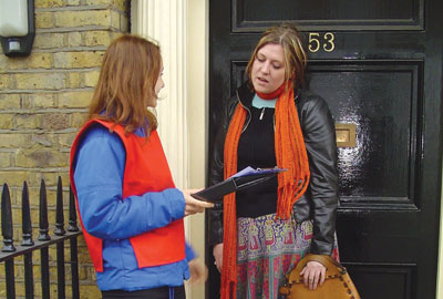 Door-to-door fundraising