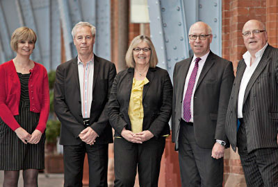 Panel (left to right): Melanie Knight of Bank Machine; Dunmore; Pharoah; Oppenheim; Etherington