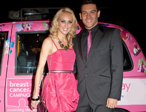 Camilla Dallerup with husband Kevin Sacre