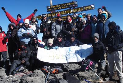 Climb Kilimanjaro for Kids event