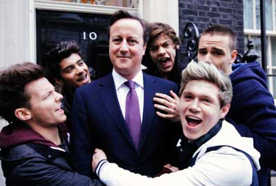 One Direction with David Cameron
