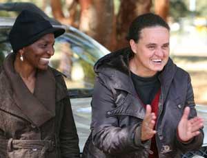 Women of Zimbabwe Arise: Mahlangu (left) and Williams