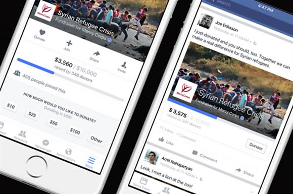 Facebook: donations without leaving its page