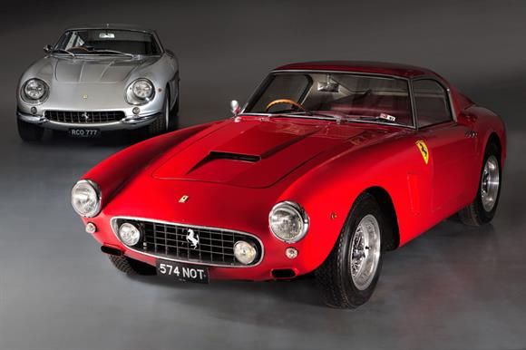 The Ferraris to be sold off for the RNLI (photo credit: H & H Classics / Neil Fraser)